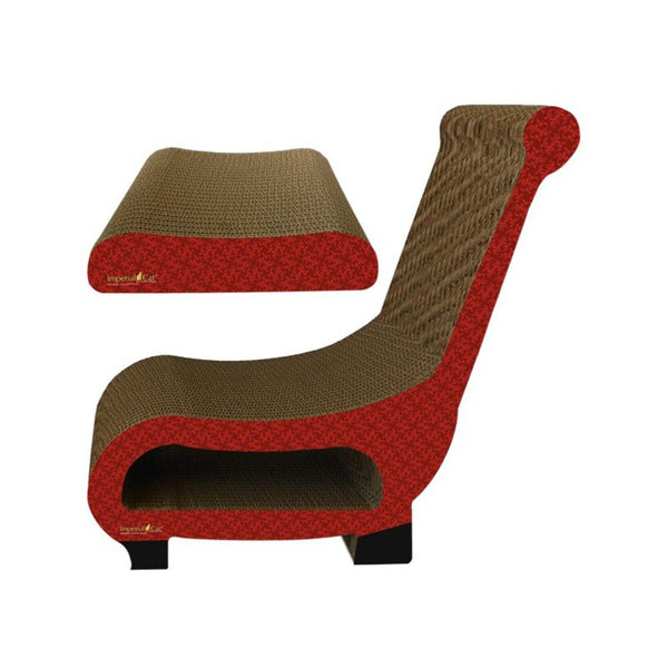 Scratch N Shapes - Club Chair, Color: Modern Red