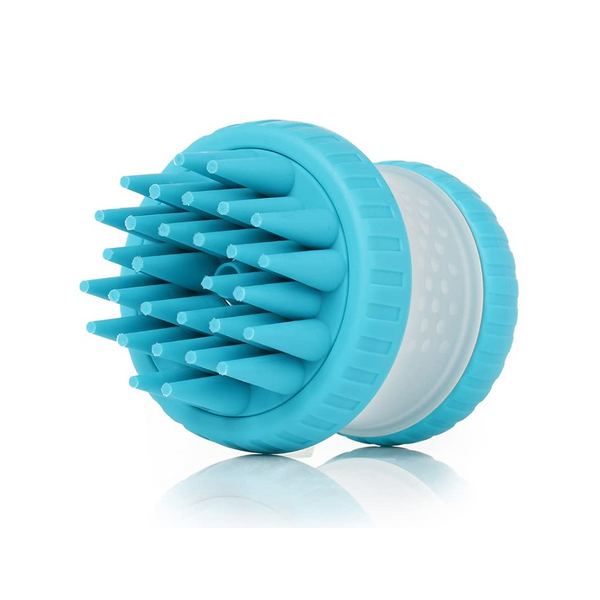 ScrubBuster Silcone Dog Washing Brush, Color Blue