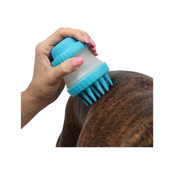 ScrubBuster Silcone Dog Washing Brush, Color Green