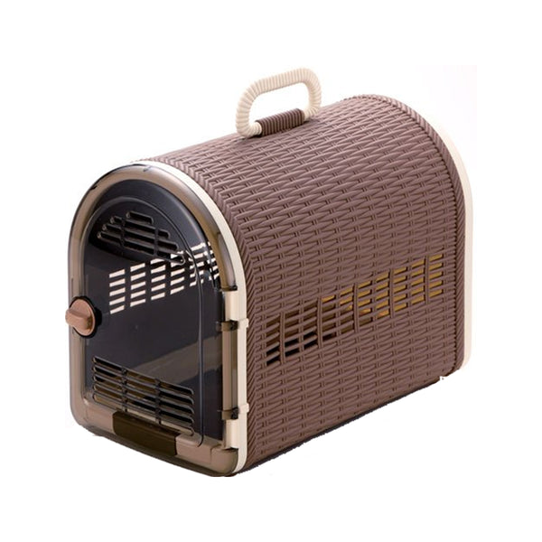 Single Door Wicker Carrier, Color : Sand