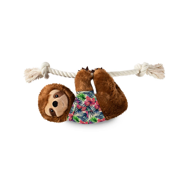 Large Summer Sloth Dog Toy