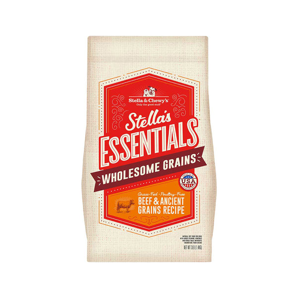 Stella's Essentials Grass-Fed Beef & Ancient Grains, 25lb