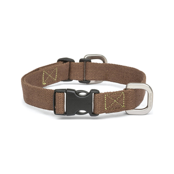 Strolls Collar w/ Hemp Color Mocha, Small