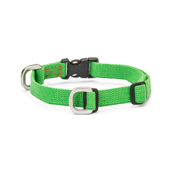 Strolls Collar w/ Hemp Color Greenery, Small