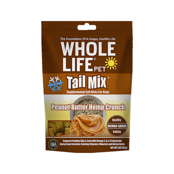 Tail Mix Supplement Soft Bites for Dogs - Peanut Butter Hemp Crunch, 3oz