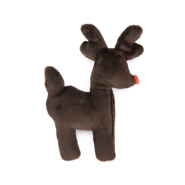 Tiny Tuff Reindeer Dog Plush Toy, Chocolate