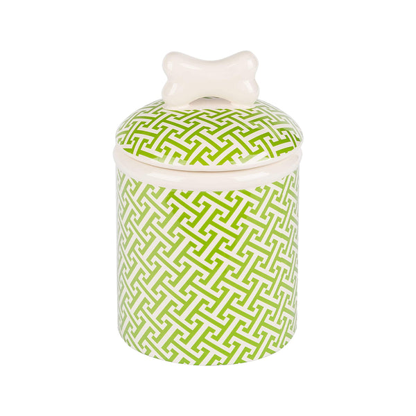 Trellis Collection Dog Treat Jar, Medium