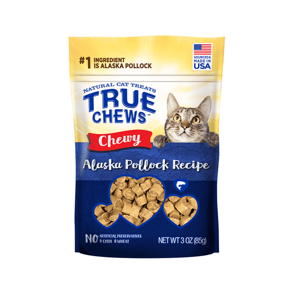 TrueChews Cat Treats - Chewy Alaska Pollock 3oz