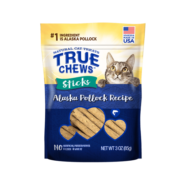 TrueChews Cat Treats - Stick Alaska Pollock 3oz