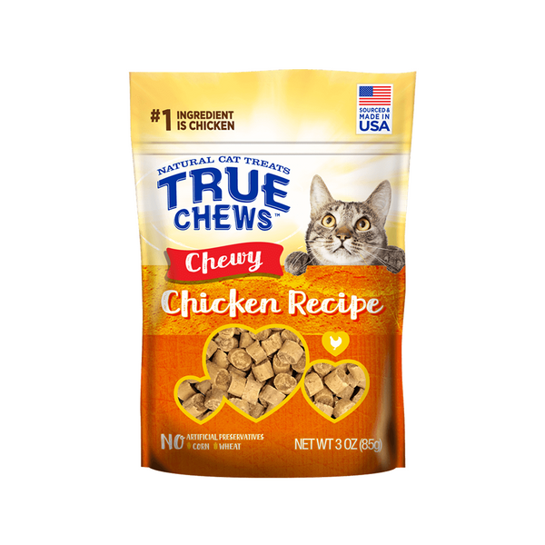 TrueChews Cat Treats - Chewy Chicken 3oz