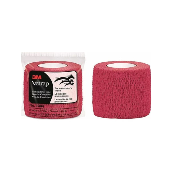 Vetrap Bandaging Tape, Color Red, 2""