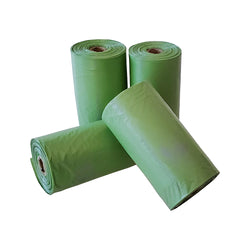 Poop Bags/Green - Pack of 4