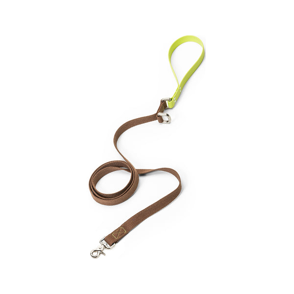 Strolls Leash w/ Comfort Grip Color : Mocha Granny Smith, Large