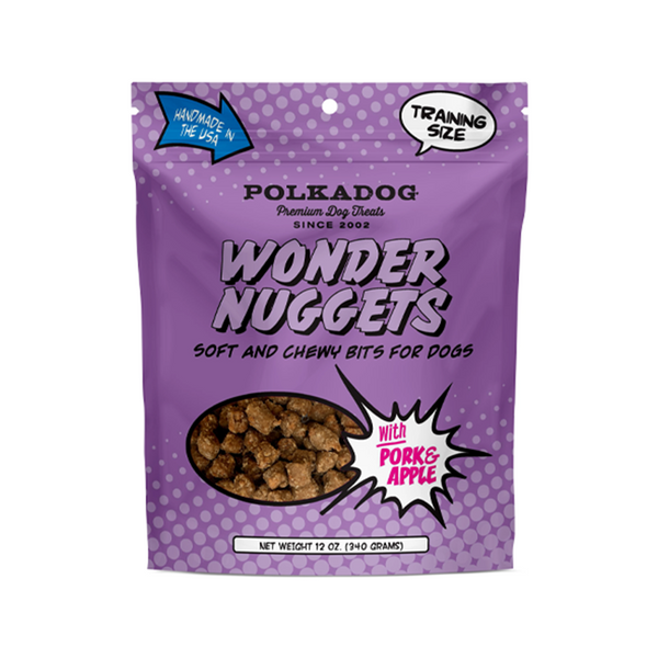 Wonder Nuggets Pork & Apple Training Treats, 12oz