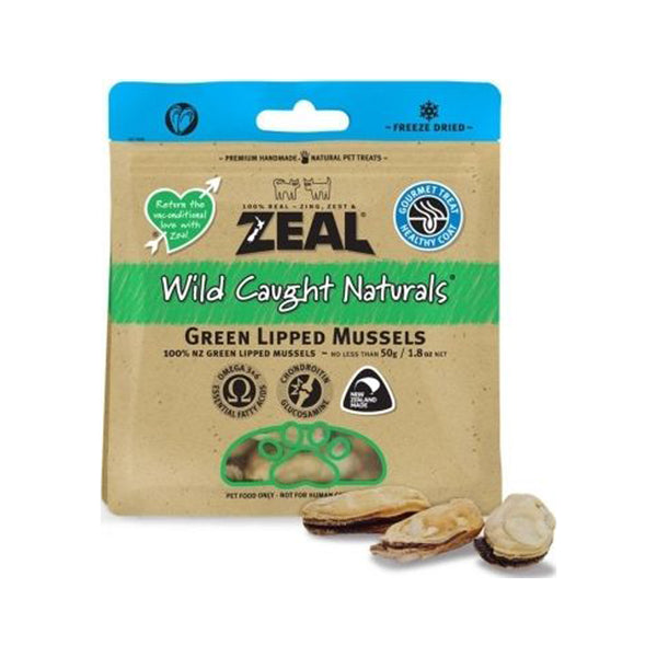 NZ Green Lipped Mussels, 50g