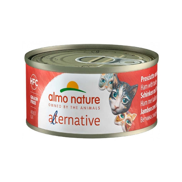 Alternative - Ham with Turkey Wet Cat Food, 70g