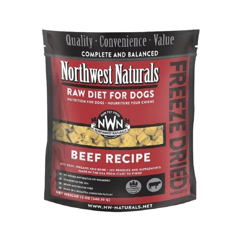 Freeze Dried Beef Nuggets for Dogs, 12oz