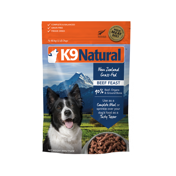 Beef Feast Freeze Dried Dog Food Weight : 3.6kg