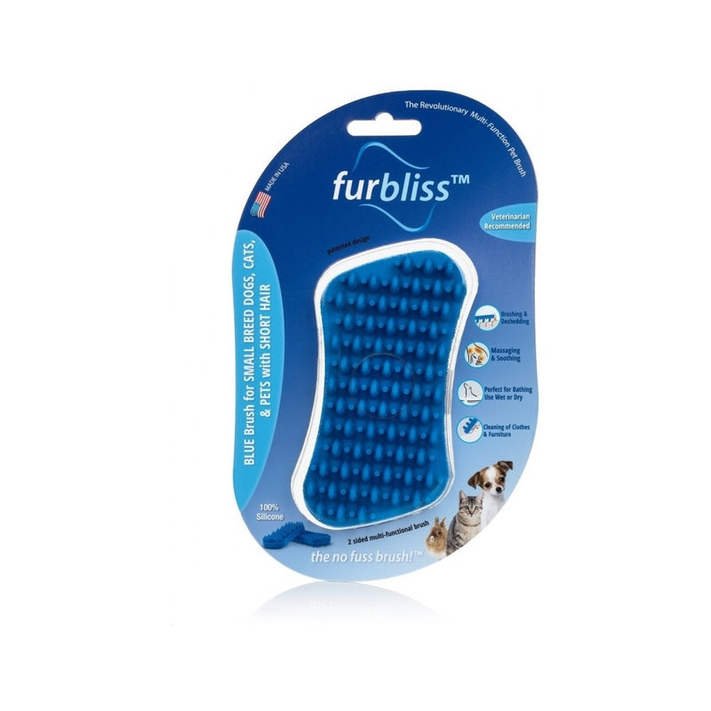 Blue Brush for Small Pets with Short Hair