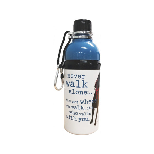 Water Bottle w/ Roller Ball, Color Blue/White, 16oz