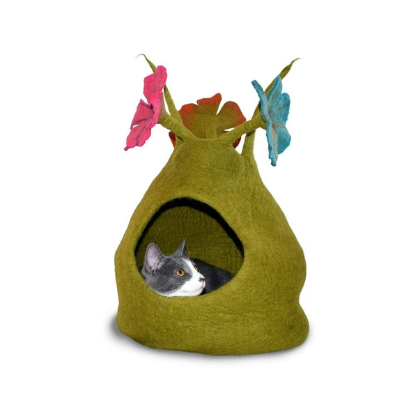 Natural Felted Bouquet Cave, Color: Green / Multi