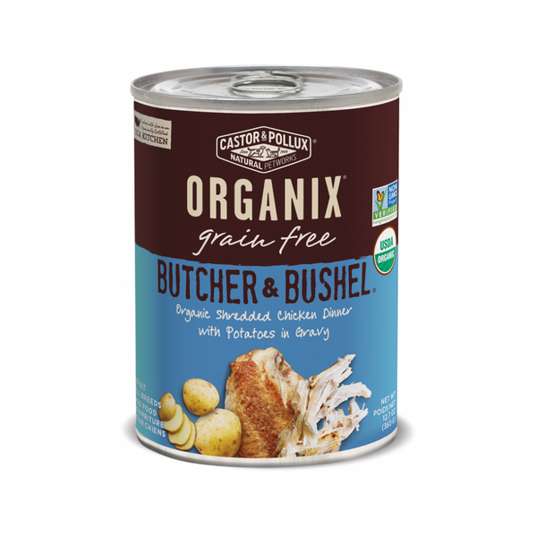 Organix Grain Free Butcher & Bushel Shredded Chicken Dinner, 12.7oz