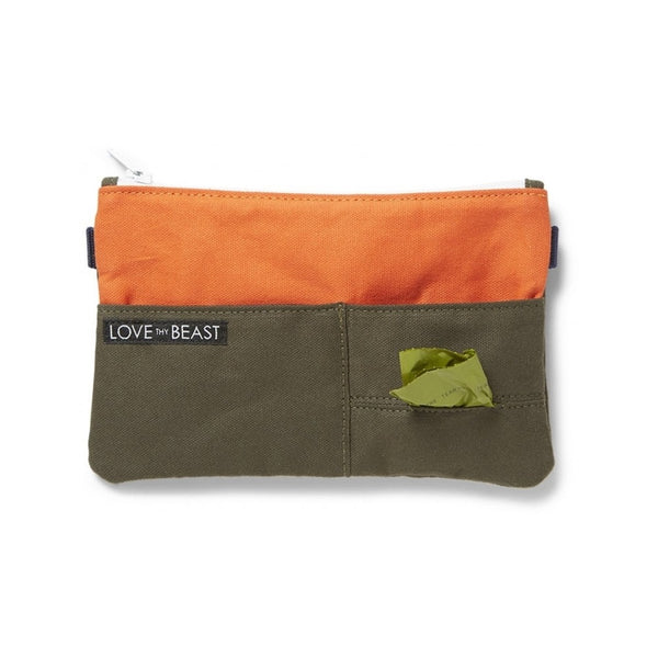 Canvas Pouch Color : Olive/Orange