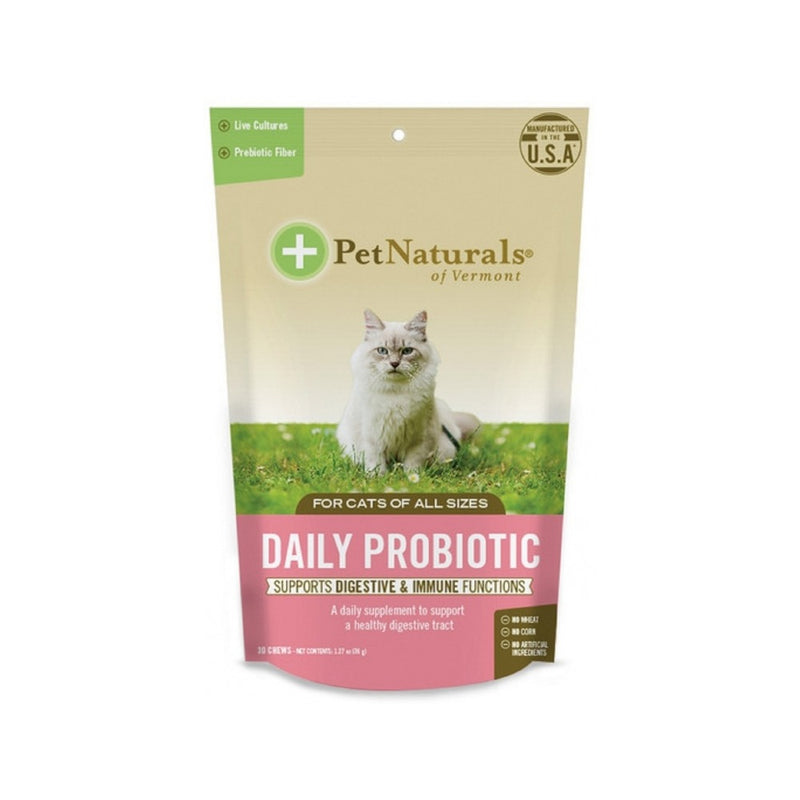 Cats Daily Probiotic Soft Chews, 30 Counts