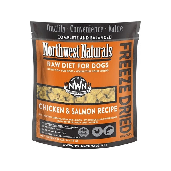 Freeze Dried Salmon & Chicken Nuggets for Dogs, 12oz
