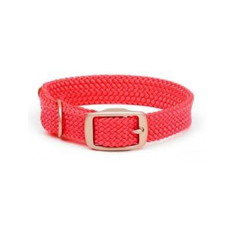 Double Braid Collar Colour : Red, Size : 12in