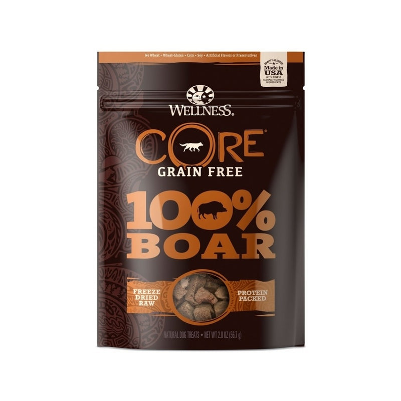 Core 100% F-Dried Boar Treats, 2oz