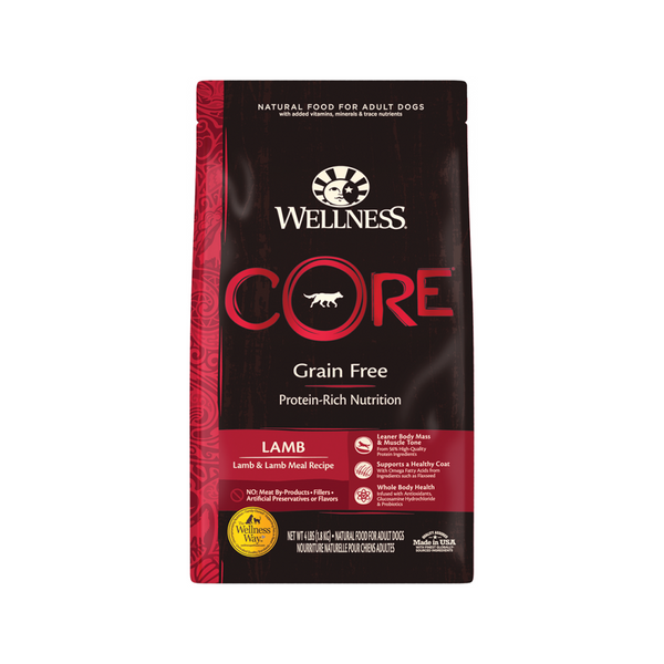 Core Lamb & Lamb Meal Recipe Dry Dog Food, 22lb