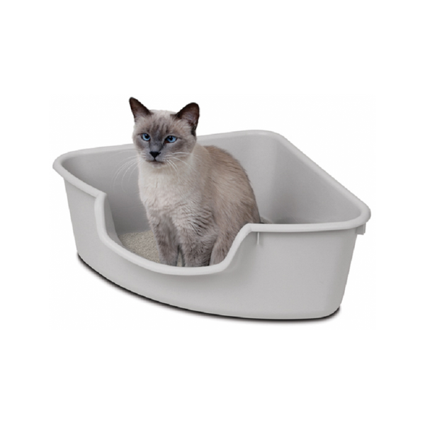Corner Litter Box Colour, Color: Grey