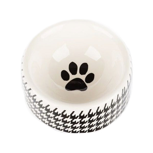 Houndstooth Collection Dog Bowl, Medium