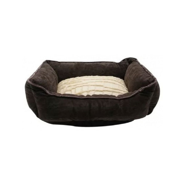 Rectangular Reversible Cuddle Bed, Color Brown, XSmall