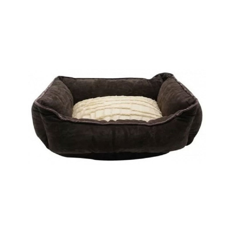 Rectangular Reversible Cuddle Bed Color : Brown Size : XS