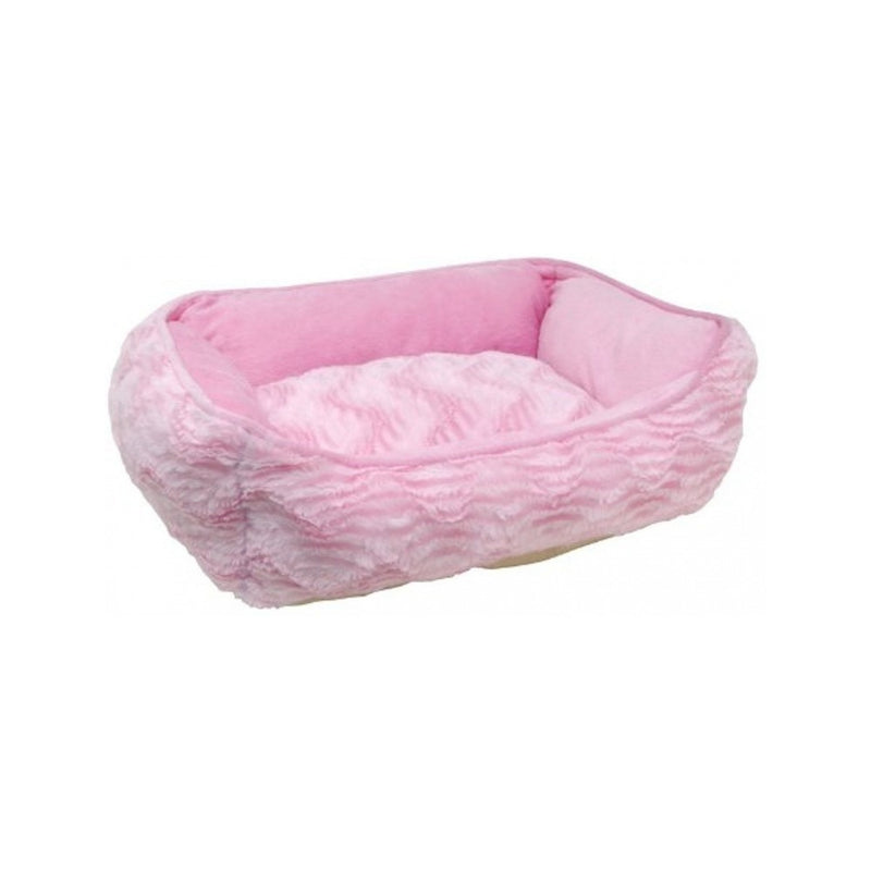 Rectangular Reversible Cuddle Bed, Color Pink, XSmall