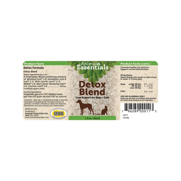 Detox/Allergy Blend Liver Support Weight : 1oz