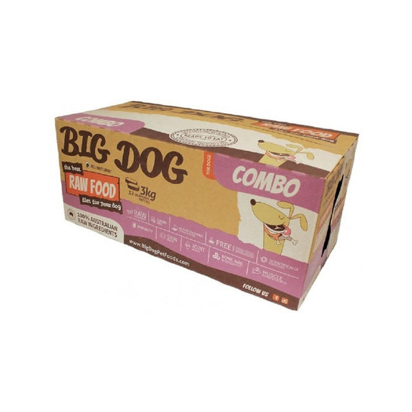 Standard Range Frozen Raw Combo Dog Food, 12x250g