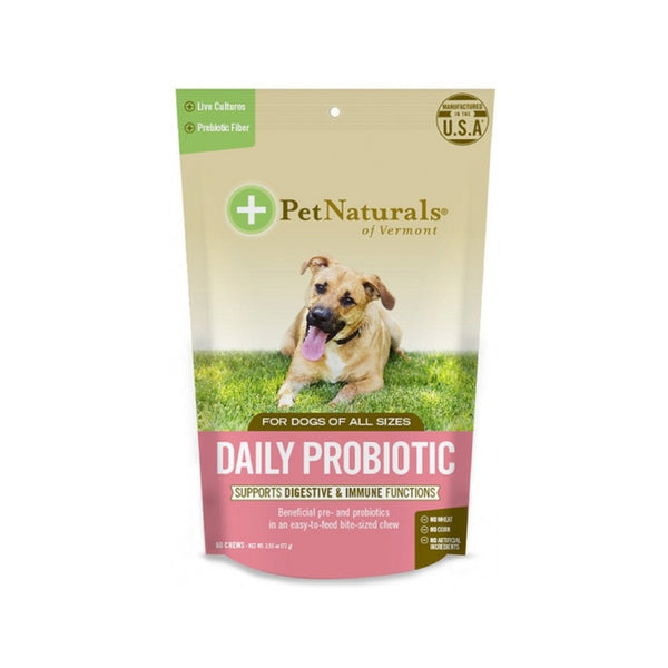 Daily Probiotic for Dogs Chews, 60 Counts