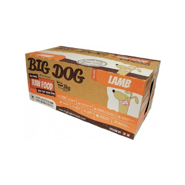 Standard Range Frozen Raw Lamb Dog Food, 12x250g