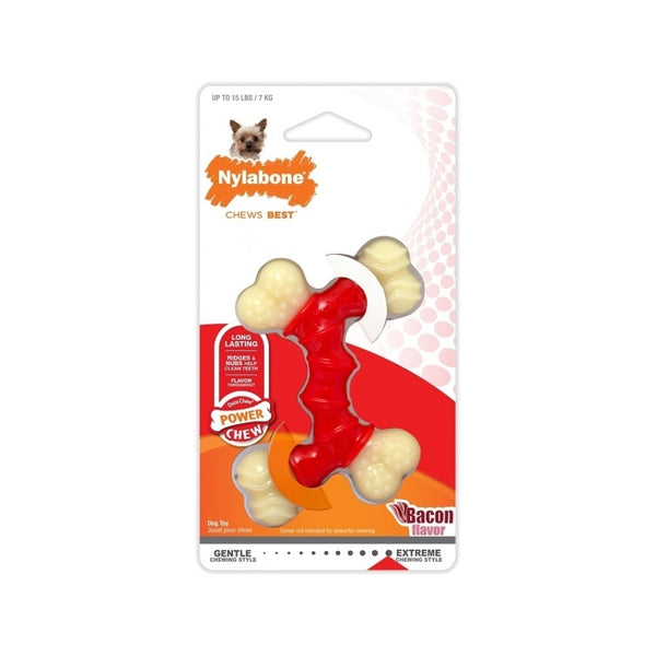 Double Action Bacon DuraChew Toy, Petite