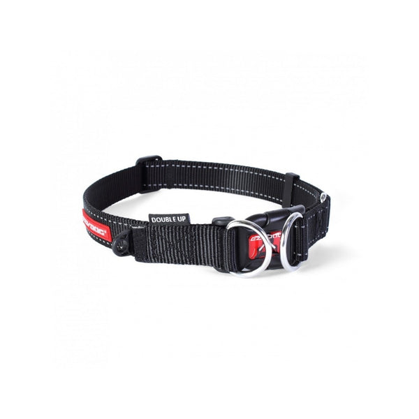 Double Up Dog Collar, Color Black, Medium