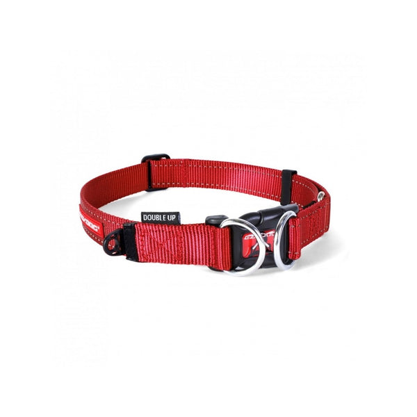Double Up Dog Collar, Color Red, Medium