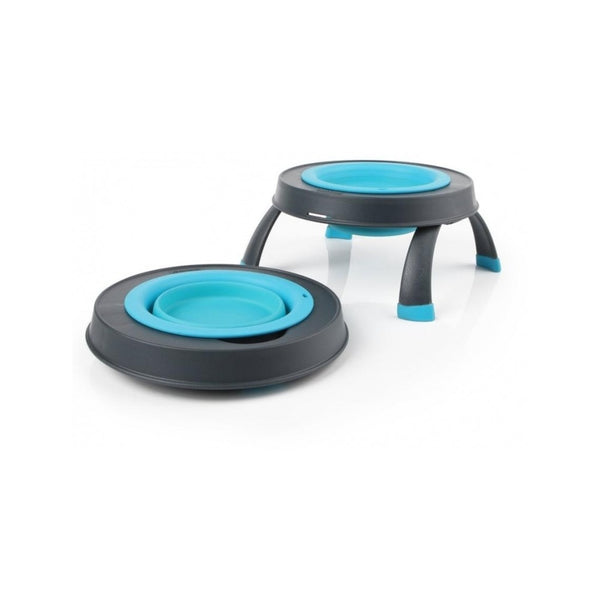 Dexas Single Elevated Feeder, Color Turquoise, Small