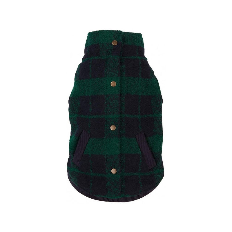 Green/Navy Plaid Boucle Jacket, 10""