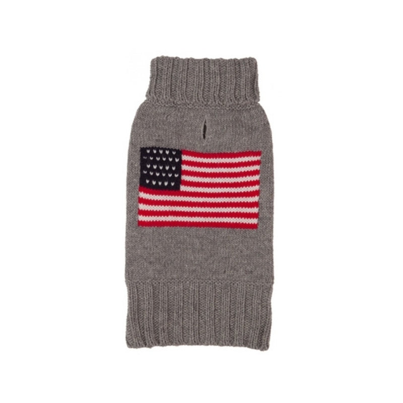 Heather Grey Flag Sweater, 10""