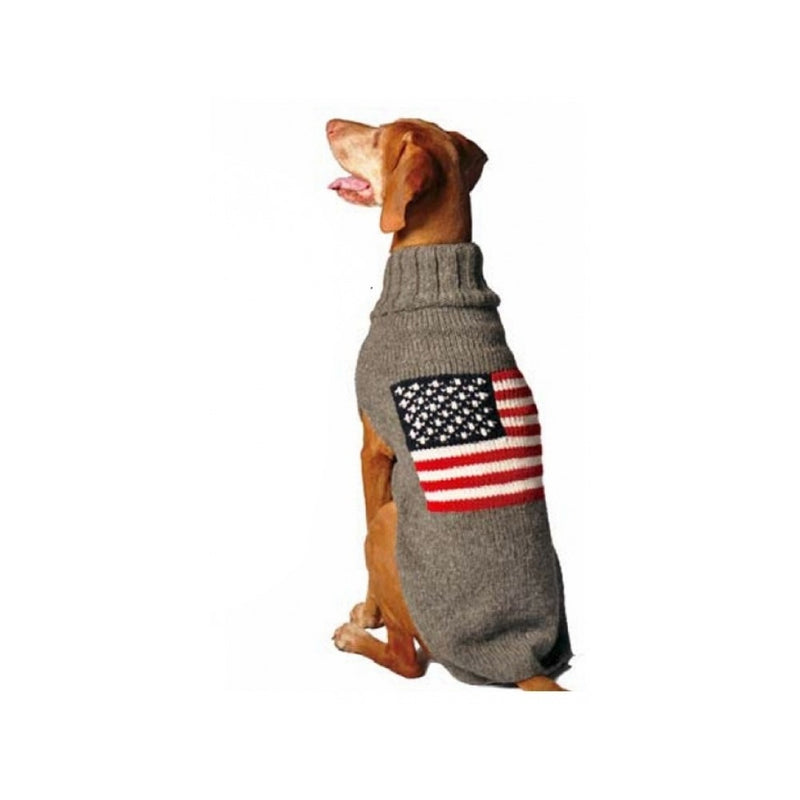 Fab Dog Heather Grey Flag Sweater 10""