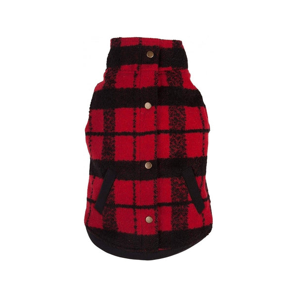 Red/Black Plaid Boucle Jacket, 10""