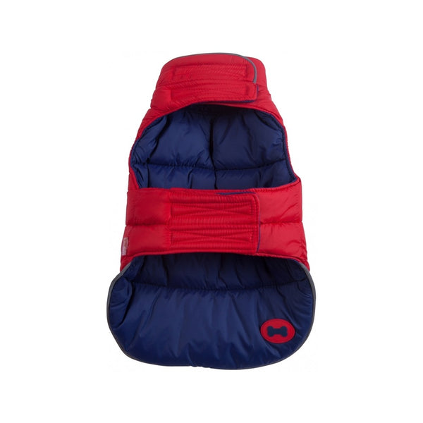 Puffer Vest, Color Red/Navy, 8""
